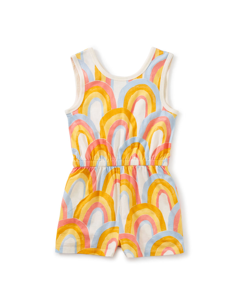 Tea Collection Reversible Wrap Romper Rainbows