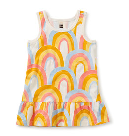Tea Collection Tank Dress Rainbows 3/6M-4T