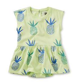 Tea Collection Skirted Baby Romper Pineapples 0/3M-18/24M