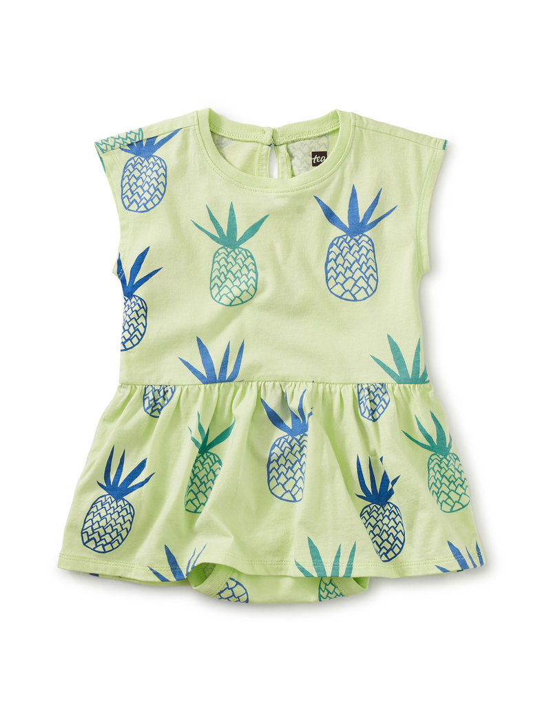 Tea Collection Skirted Baby Romper Pineapples
