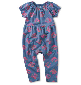 Tea Collection Seashell Romper Island 0/3M-18/24M