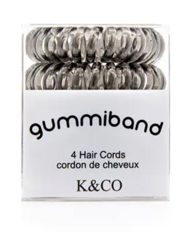 GummiBand GummiBand Hair Cord Box 4 Metallic Silver