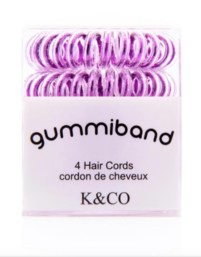 GummiBand GummiBand Hair Cord Box 4 Metallic Purple
