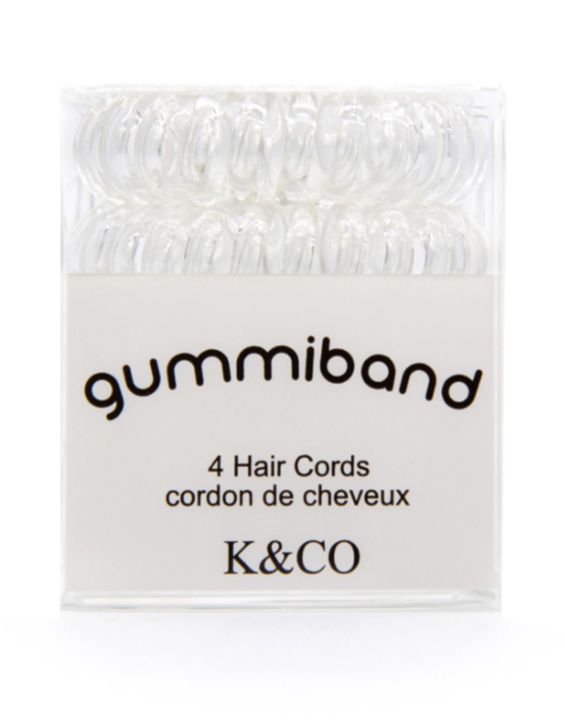 GummiBand GummiBand Hair Cord Box 4 Clear