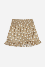 Rylee & Cru White Flora Wrap Ruffle Skirt