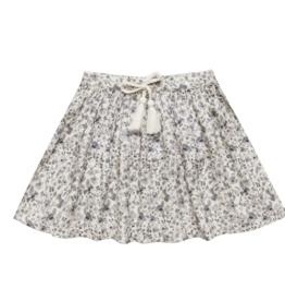 Rylee & Cru Blue Floral Mini Skirt