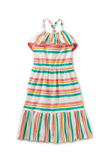 Tea Collection Tassel Trim Midi Dress Sunset Pink