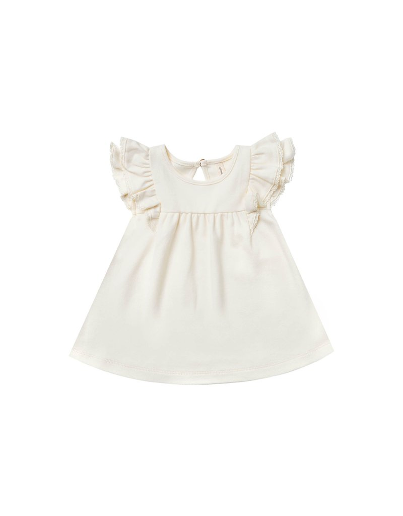 Quincy Mae Ivory Flutter Dress
