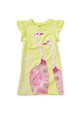 Tea Collection Tulip Sleeve Mini Dress Kiwi