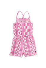 Tea Collection Smocked Romper Mosaic