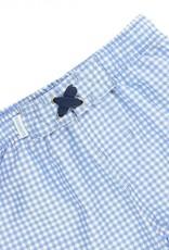 Ruffle Butts Cornflower Blue Gingham Swim Trunks