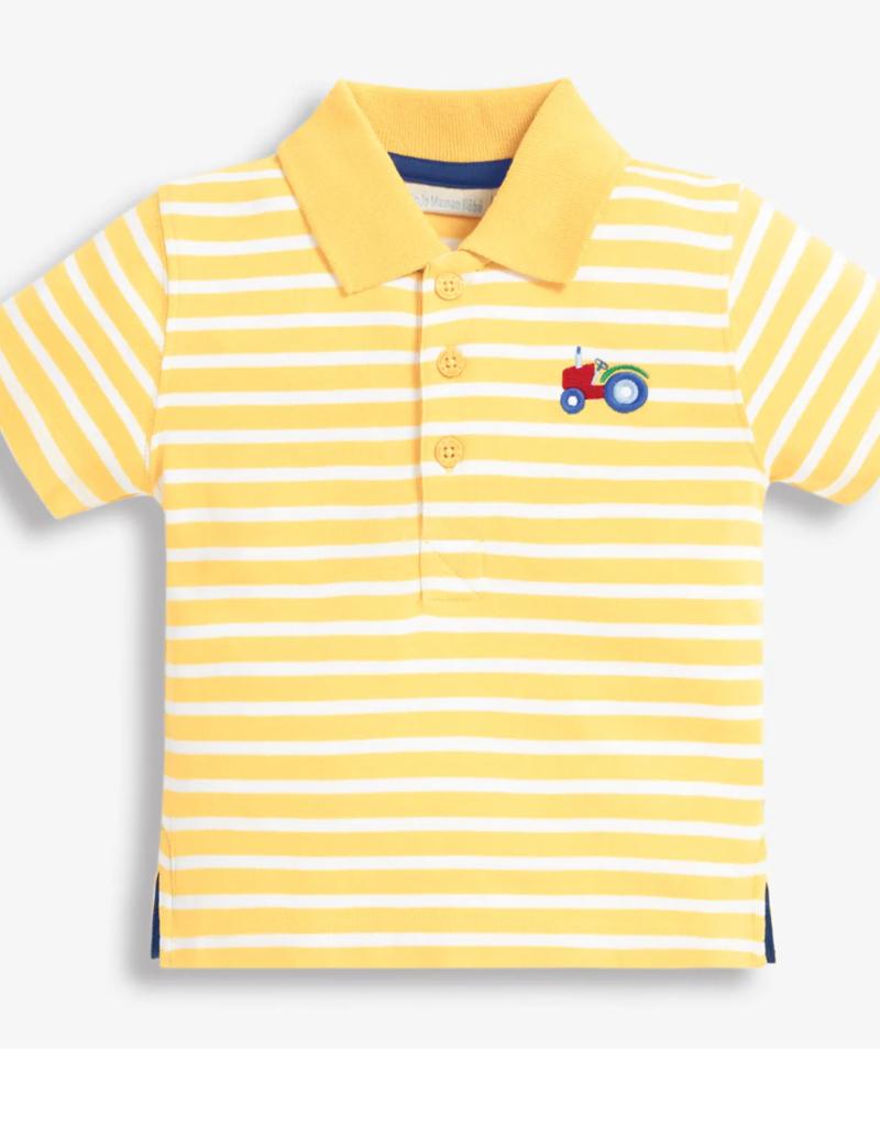 JoJo Maman BeBe Tractor Polo Shirt Yellow