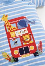 JoJo Maman BeBe Safari Bus Applique Romper