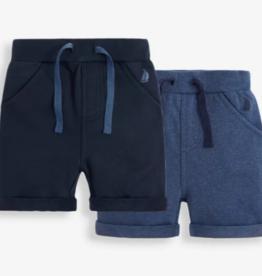 JoJo Maman BeBe Navy Jogger Shorts 2 pk