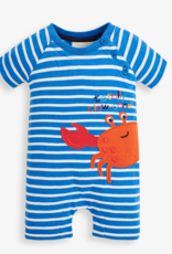 JoJo Maman BeBe Crab Applique Romper