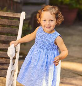 JoJo Maman BeBe Blue Smocked Bud Dress