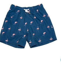 Bermies Miami Flamingo Swim Trunks