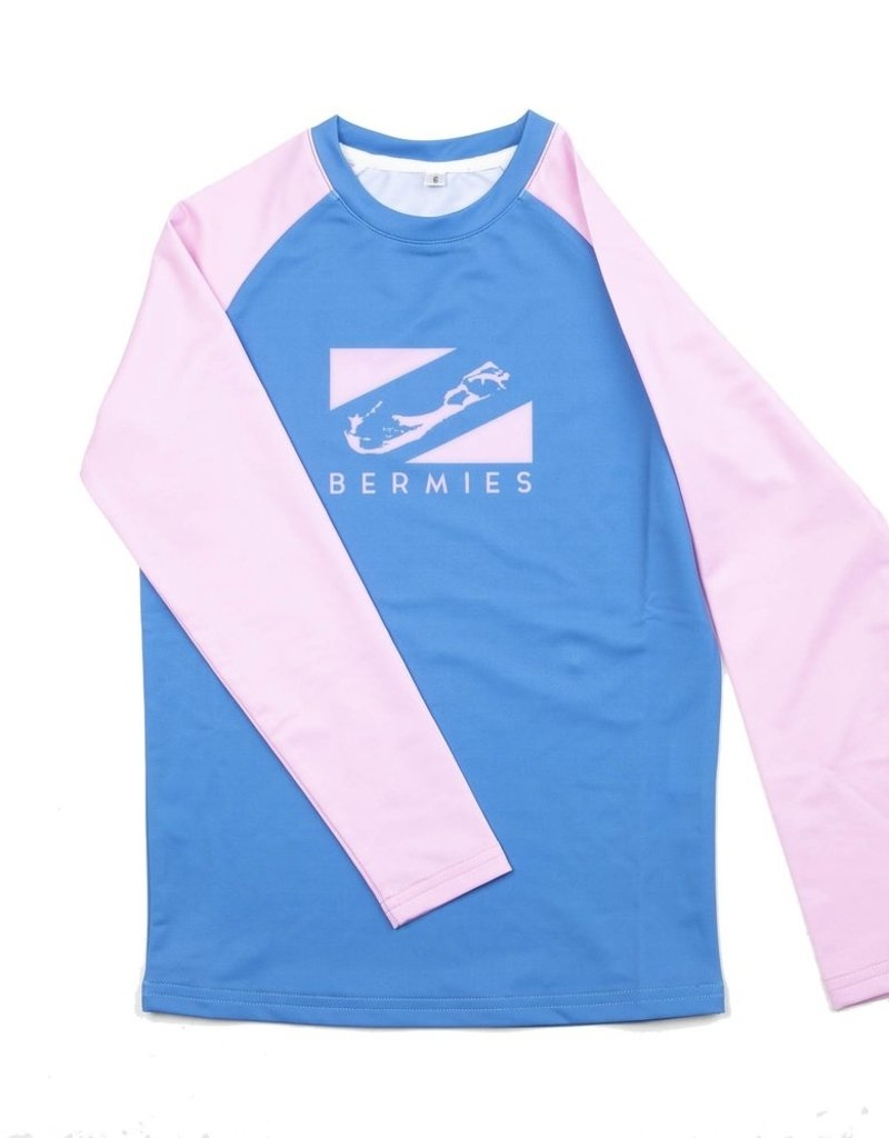 Bermies L/S Rashguard Blue/Pink