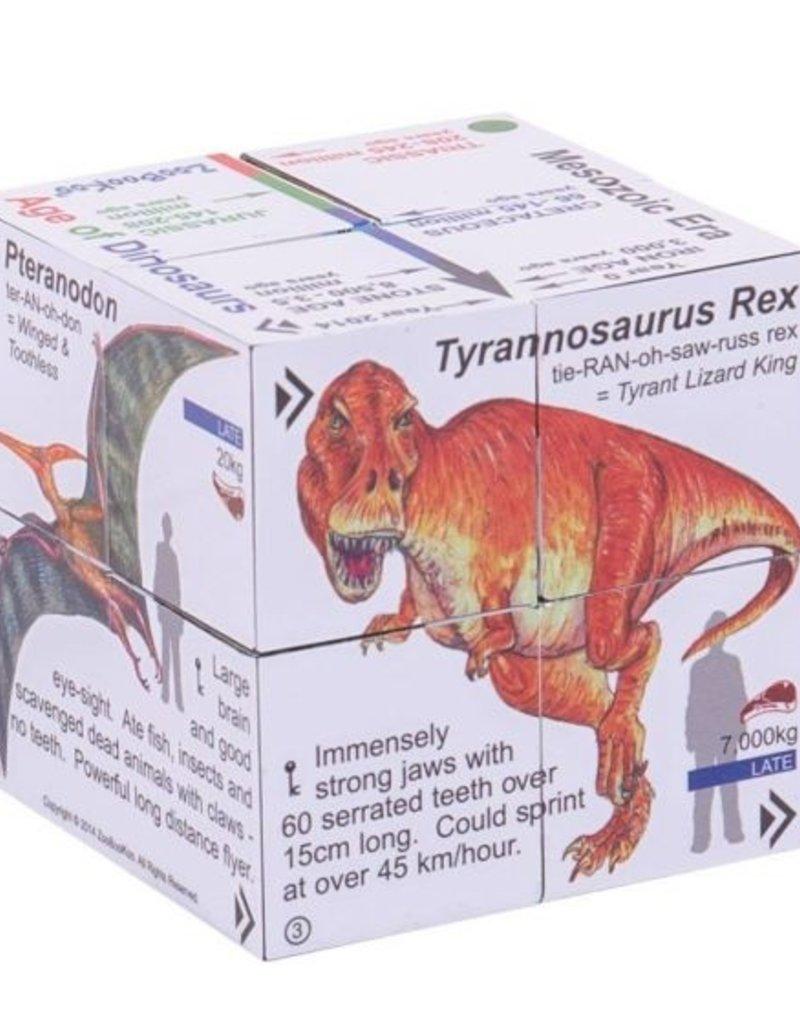 BigJigs Toys Dinosaurs Cubebook
