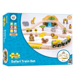 BigJigs Toys Safari Train Set