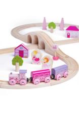 BigJigs Toys Fairy Figure Eight Train Set