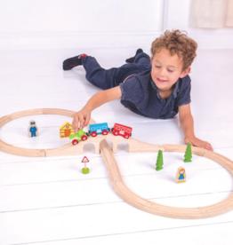 BigJigs Toys Figure 8 Train Set