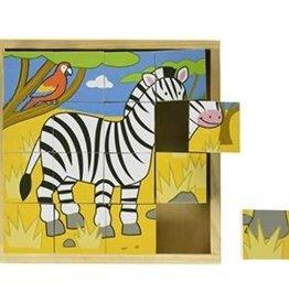 BigJigs Toys Cube Puzzle Animal
