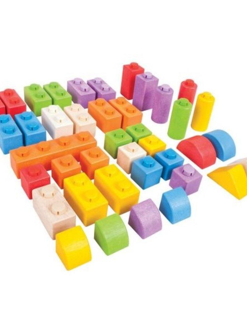 BigJigs Toys Click Blocks (Intermediate Pack)