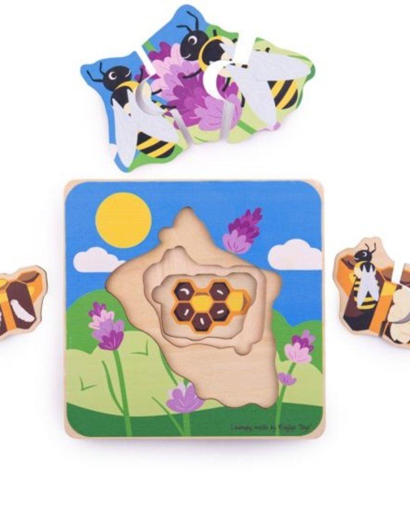 BigJigs Toys Lifecycle Layer Puzzle Honeybee