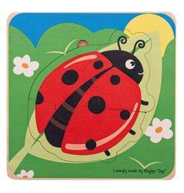 BigJigs Toys Lifecycle Layer Puzzle Ladybug