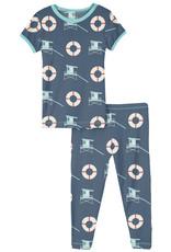 Kickee Pants Print S/S Pj Set Deep Sea Life Guard