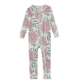 Kickee Pants Print Muffin Ruffle Coverall w/Zip Fresh Air Florist
