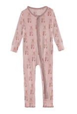 Kickee Pants Print Muffin Ruffle Coverall w/Zip Baby Rose Ballet