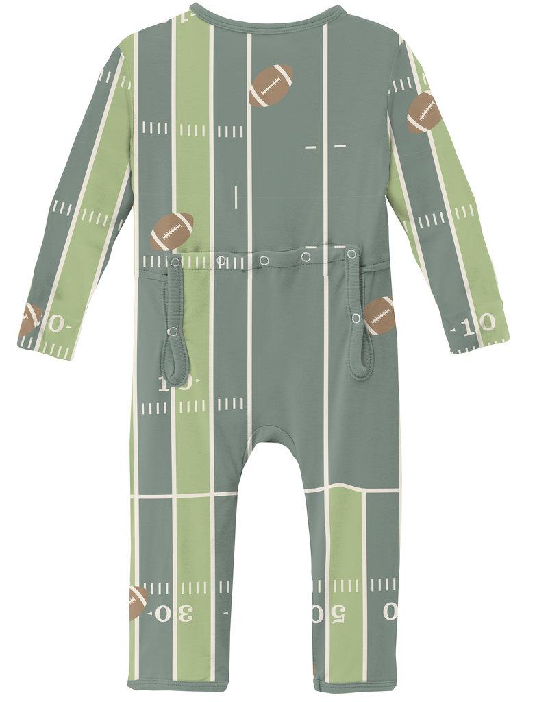 Kickee Pants Print Coverall w/Zip Football