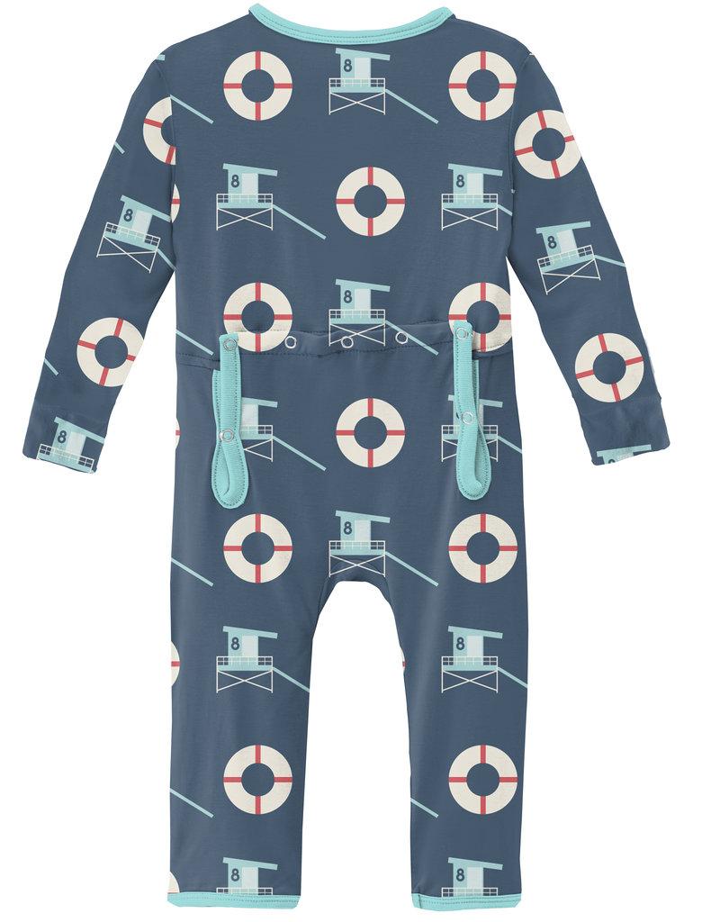 Kickee Pants Print Coverall w/Zip Deep Sea Lifeguard