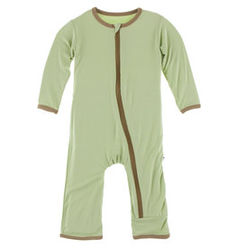 Kickee Pants Applique Coverall w/Zip Field Green Football