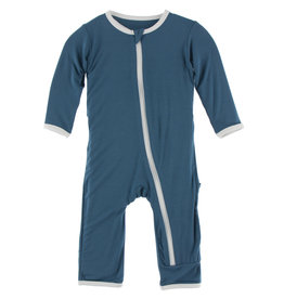 Kickee Pants Applique Coverall w/Zip Deep Sea Baseball