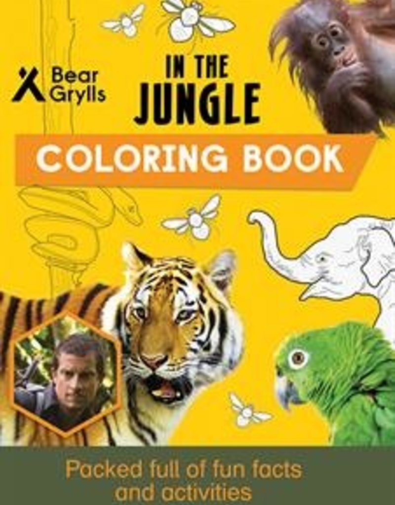 Usborne Bear Grylls, In the Jungle Coloring Book