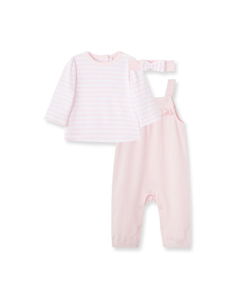 Little Me Wispy Overall Set Pink