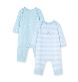 Little Me Stripe Dream 2pk Coverall Blue