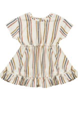 Quincy Mae Terry Dress Set Retro Stripe