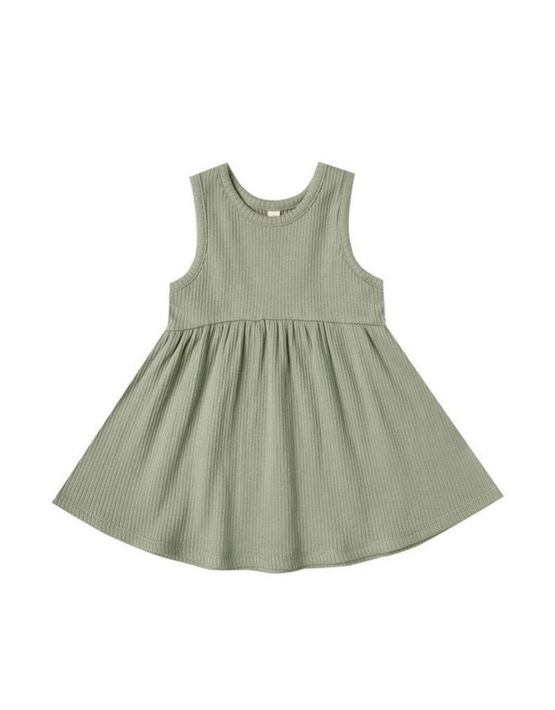 Quincy Mae Ribbed Tank Dress Sage