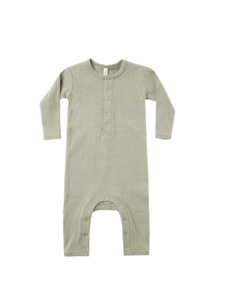 Quincy Mae Ribbed Jumpsuit Sage