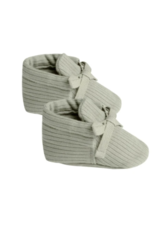 Quincy Mae Ribbed Baby Booties Sage