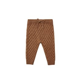 Rylee & Cru Knit Gable Pant Rust