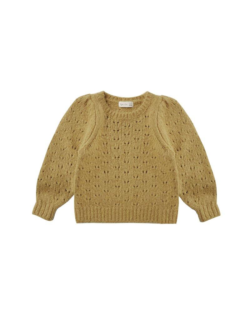 Rylee & Cru Balloon Sweater Gold