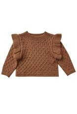 Rylee & Cru La Reina Sweater Rust