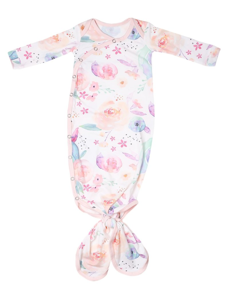 Copper Pearl Newborn Knotted Gown Bloom