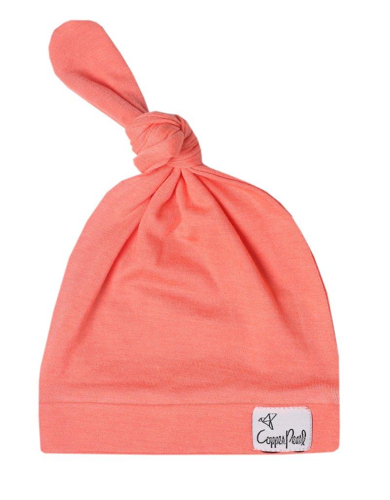 Copper Pearl Top Knot Hat Stella