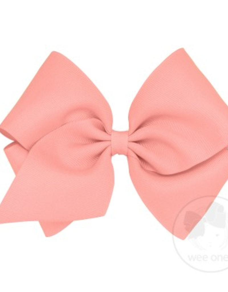Wee Ones Mini King Grosgrain Bow Coral